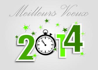 Meilleurs Voeux 2014 vert chrono