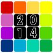 Carte Voeux 2014 Carrés Multicolores
