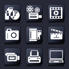 photo video icons