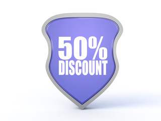 discount icon on white background