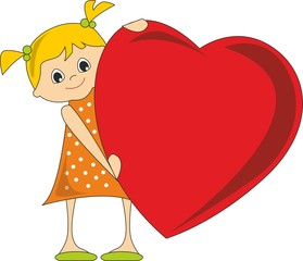 girl with a huge heart