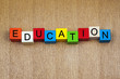 Education in words / letters