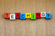 Teaching in words / letters