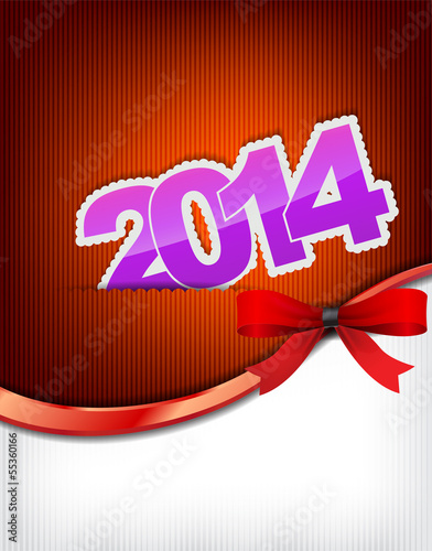 New 2014 year greeting card