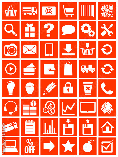 web icons for eshop, flat design