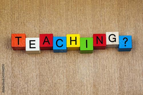Teaching in words / letters