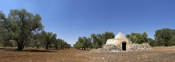 panoramic - view of trullo, puglia