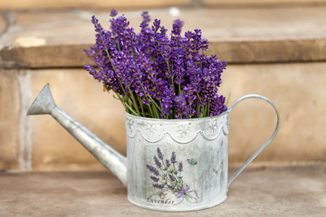Watering Can and Lavende