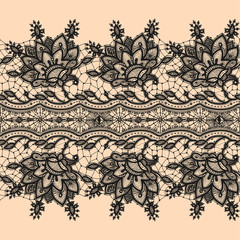 Seamless Pattern Black Lace