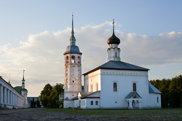 Voskresensky church and shopping arcade in Suzdal, Russia