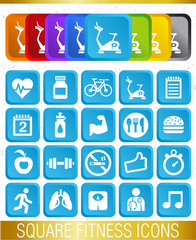 SQUARE FITNESS ICONS