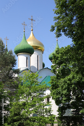 Domes of russian orthodox monastery, Suzdal