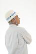 男性作業員の横顔