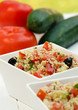 Salad Tabbouleh with couscous and vegetables