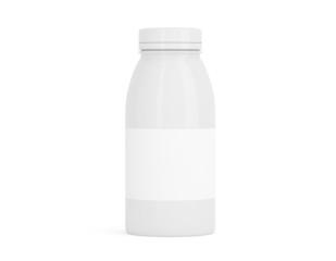 Flasche aus Porzellan klein mit Etikett