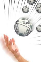 money sphere in hand