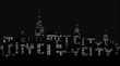 City at night, silhouette with words city - vector illustration.