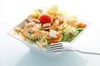Salade fraîche pâtes poulet