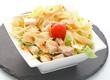 Entrée salade poulet pâtes