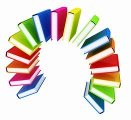 Colorful books like the rainbow