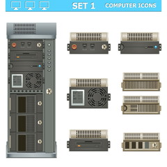 Vector computer icons set 1