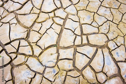 Drought: cracks in clay