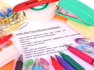 La liste des fournitures scolaires
