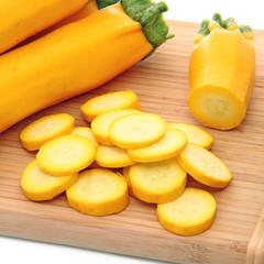 Rondelles de courgettes jaunes