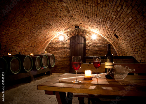 Deurstickers Bar Wine cellar
