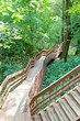 Steep stair in a ravine