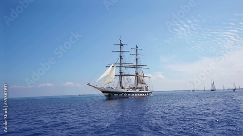 HD - Tall Sailboat. Wide angle. scene01