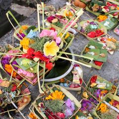 Offrande de fleurs