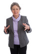 Ältere Frau isoliert hat Arthrose und Schmerzen