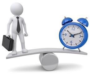 balance businessman zeitmanagement