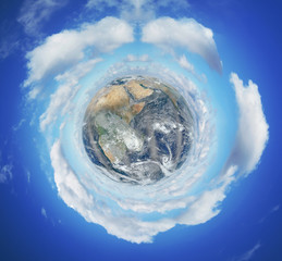 Image of planet Earth - Elements of this image furnished by NASA