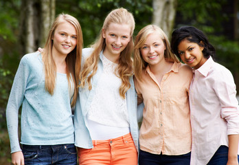 Group Of Female Teenage Friends