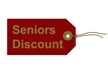 Seniors Discount Tag