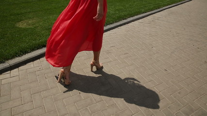 Model Woman in Red