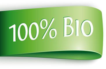 grünes label 100% bio
