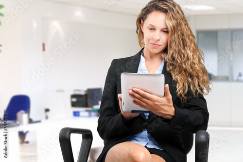 Woman using a tablet