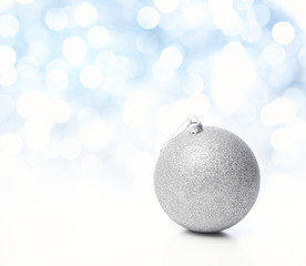 Christmas bauble, Copy space