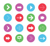 Vector Wonderful Arrows Icons Set 1