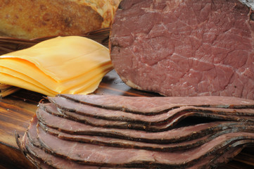 Roast beef and cheese