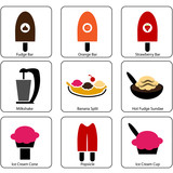 Ice Cream Parlor Icons poster