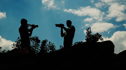 Silhouette of Photographers 2