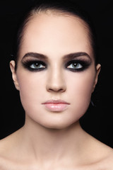 Beauty with smoky eyes