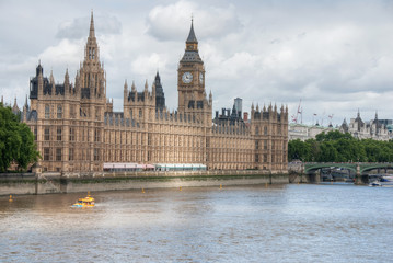 Big Ben and Houses of Parliament, London.