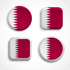 Qatar flag buttons