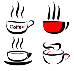 Coffee cup icon logo