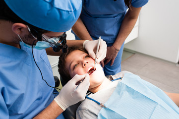 Little boy having a dental examination